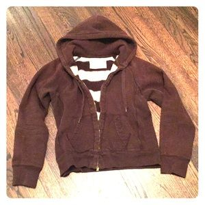 J. Crew hoodie brown Zipper M